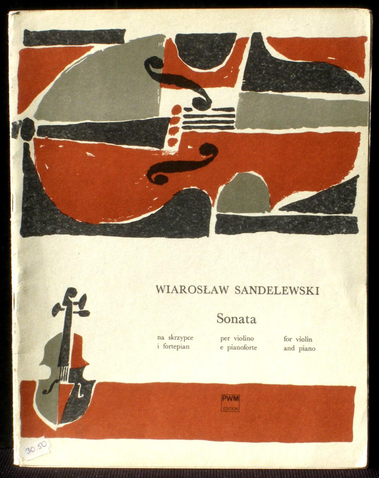 Partition   Score Score Score Wiaroslaw Sandelewski Sonata violin  piano PWM  EX 06123c