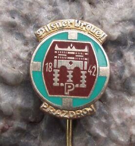Antique-Pilsner-Urquell-Brewery-Pils-Beer-Lager-Gate-Light-Enamel-Pin-Badge