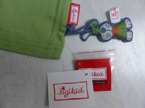 T-Shirt von Sigikid mit kurzem Arm NEU!!! limettengrün mit Hundemotiv