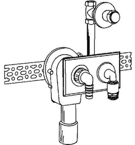 Dallmer Waschgeräte Siphon 405 Unterputz Wandeinbau Sifon Waschmaschine 130501