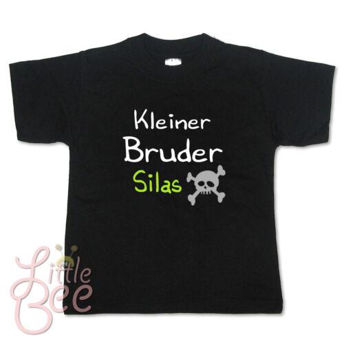Baby T-Shirt Kleiner Bruder Größe Farbe NEU ! Wahl: Motiv Wunschname