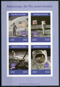 Chad-2019-Gomma-integra-non-linguellato-Atterraggio-sulla-Luna-Apollo-11-Neil-Armstrong-4v-IMPF-M-S