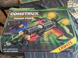 Huge Vintage Fisher Price CONSTRUX Military Space Mixed Lot 13 + Lbs
