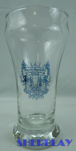 """HOPS IN HUMBOLDT Micro Brew Festival Beer Fest 2010 Mini Small Brewery Glass 5/"""""""