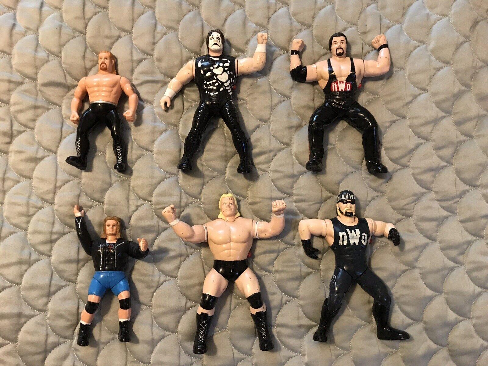 WCW NWO Hollywood Hulk Hulk Hulk Hogan Lot Of 6 Lex Luger Sting Diamond Dallas 1997 - 99 566c47