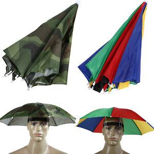 Foldable-Umbrella-Sun-Hat-Cap-Golf-Travel-Outdoor-Camping-Beach-Fishing-Hunting