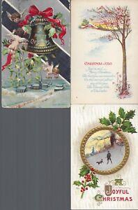 Vintage-Assorted-Christmas-Postcards-Circa-1800-039-s-1900-039-s-Lot-of-5