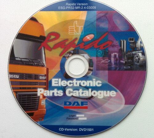 DAF RAPIDO 11.2015 parts catalogue, trailers parts catalogue