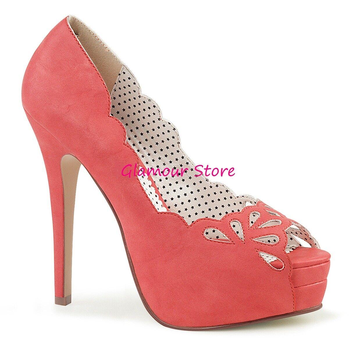 Sexig dekolte'Coral Heel 13,5 från 35 till 41 Platform skor Pin Up Glamour