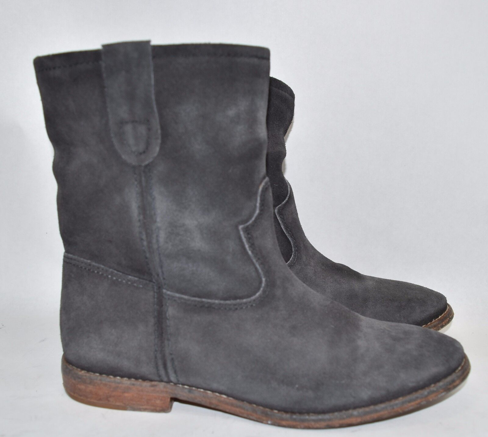 CELEBS CELEBS CELEBS 790 ISABEL MARANT Étoile Crisi DISTRESS suede ankle boot CHARCOAL GREY 36 deff9f