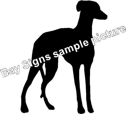 Greyhound Lurcher Gloss Vinyl Car Sticker Auto Decal Scooter Graphic Wall Art