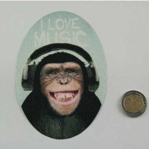 "1 Set = 2 pezzi Rappezzi Scimmia /""I Love Music/"""