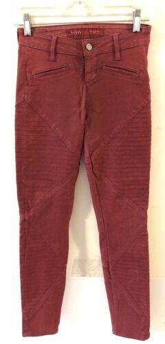 Guess jeans 24 Jeans misto skinny taglia da donna stretch rosso bordeaux scuro AqCOxdw8q