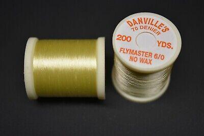 Hot Wax Fly Tying BLACK Thread 200 yards each Spool