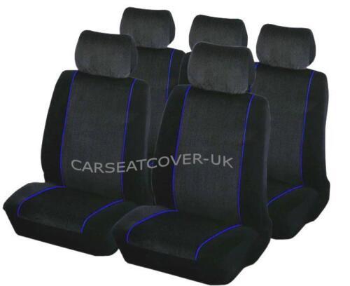 Luxury BLACK /& BLUE Trim Car Seat Covers Protectors Jaguar XF Full Set