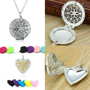 Hollow-Heart-Locket-Pendant-Perfume-Essential-Oil-Aromatherapy-Diffuser-Necklace