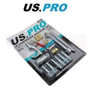 US-Pro-Tools-Reino-Unido-Compresor-de-Aire-Kit-De-Accesorios-Pistola-Inflador-de-neumaticos-extremos