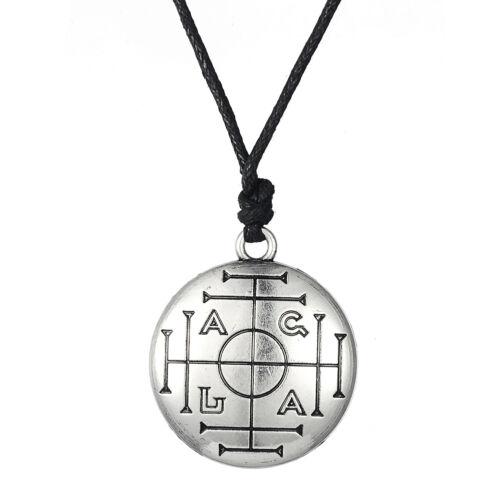 Talisman pour interprète Key of Solomon Étain Pentagramme Pendentif Amulette Collier
