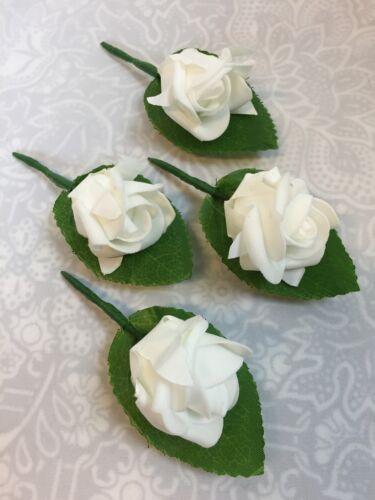 cintahomedeco 4 X  4 cm Foam Rose Flower Buttonholes//Wedding Flowers