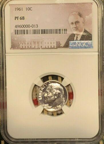 1961  Roosevelt Proof 10c NGC Certified PF 68