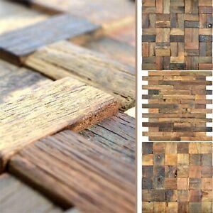 Details zu Mosaik Fliese aus Holz Bredon 3D Braun für Wandverkleidung  Fliesenspiegel Küche