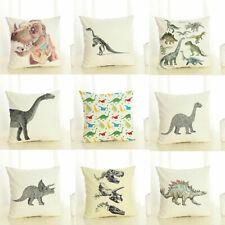 Home Decor Dinosaur Cotton Linen Fashion Throw Pillow Case Sofa Cushion Cover