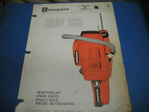 Husqvarna 285 Cd Chainsaw Illustrated Spare Parts Dealer Fold Out Ipl Manual Ebay