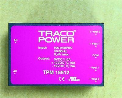 TRACO POWER 15 W Triplo output incorporato Interruttore Modalità Alimentazione 5 V DC 12 V DC 2 A