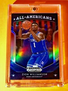 Zion-Williamson-BLUE-PANINI-PRIZM-REFRACTOR-ROOKIE-DRAFT-PICKS-ALL-AMERICANS-RC