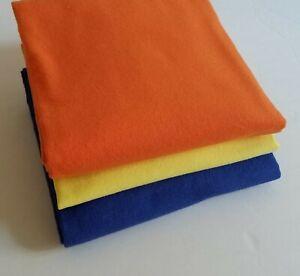 Solid-Flannel-Fabric-Remnant-Lot-3-assorted-lengths-colors-per-description