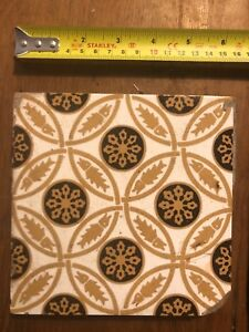 """1 1//2/"""" x 6/"""" VICTORIAN Style ORNATE 6-1890/'s Trent FIREPLACE HEARTH TILES"""