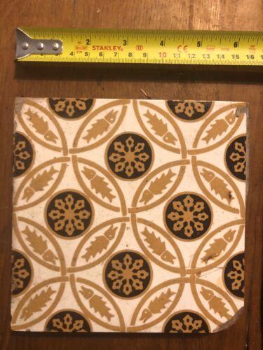 "3 Available Beautiful Design 6"" X 6"" Original  Victorian Minton Tile"