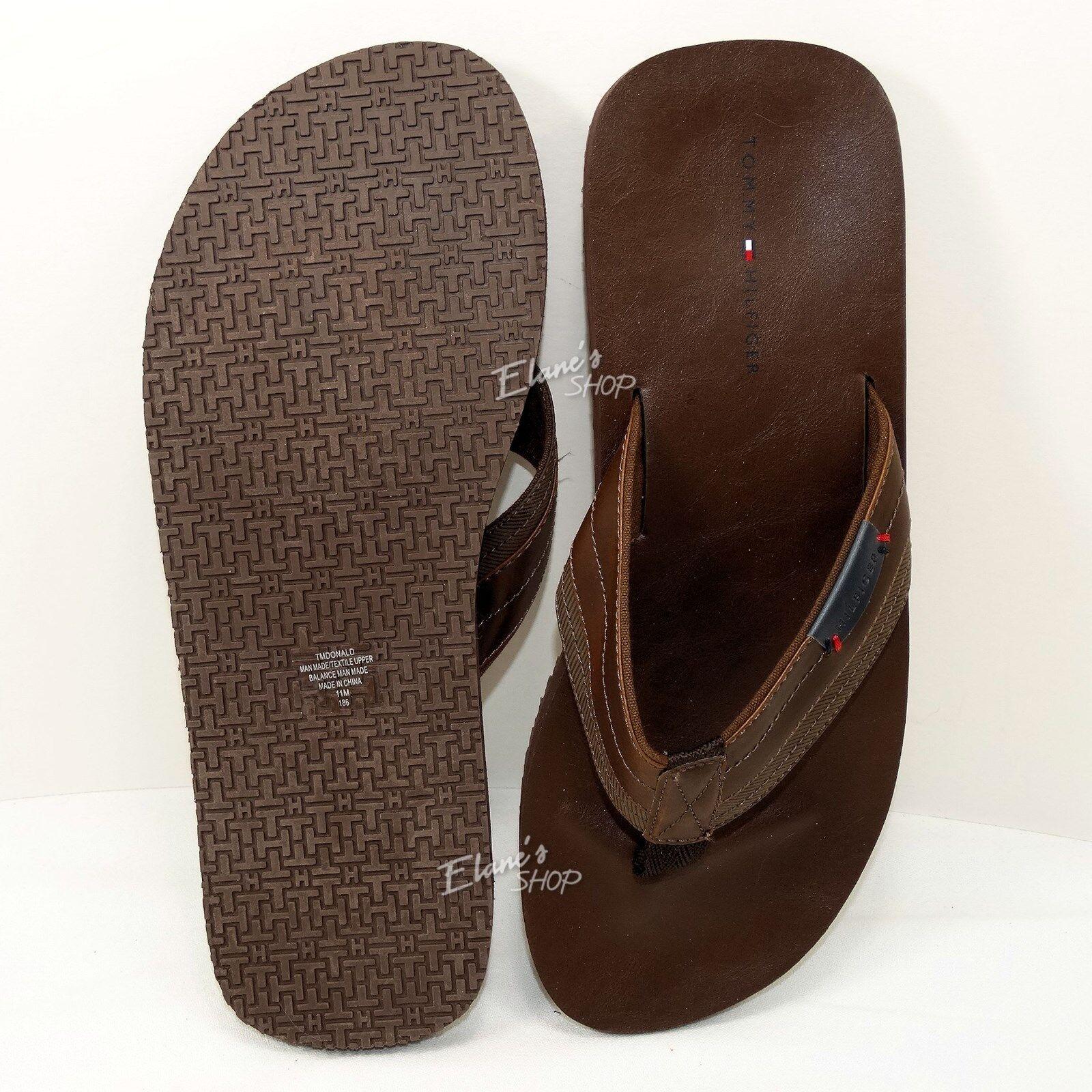 Tommy HILFIGER 8 D    Flip-flops Brown Donald Canvas Sandals NWT Pick Size Thong 58b70f