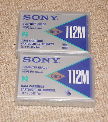 2x Sony 8mm 112m Cartucce Dati-sigillato-