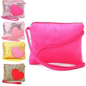 Mini-Shoulder-Bag-Children-Kids-Girls-Heart-Sequin-Messenger-Handbag-Purse-Gifts