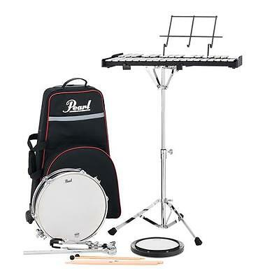 pearl pl910c snare drum bell set student percussion kit w rolling cart 633816651465 ebay. Black Bedroom Furniture Sets. Home Design Ideas