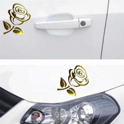 Reflective 3D Cutout Rose Auto Sticker Body Decor Flower Car Sticker Universal,.