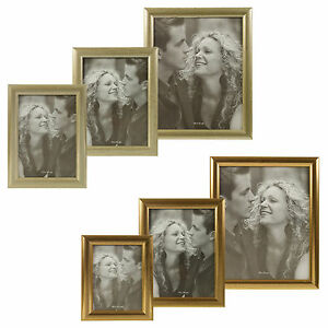 Metal-Look-Photo-Frames-Silver-Copper-Wall-Mountable-Hanging-Free-Standing