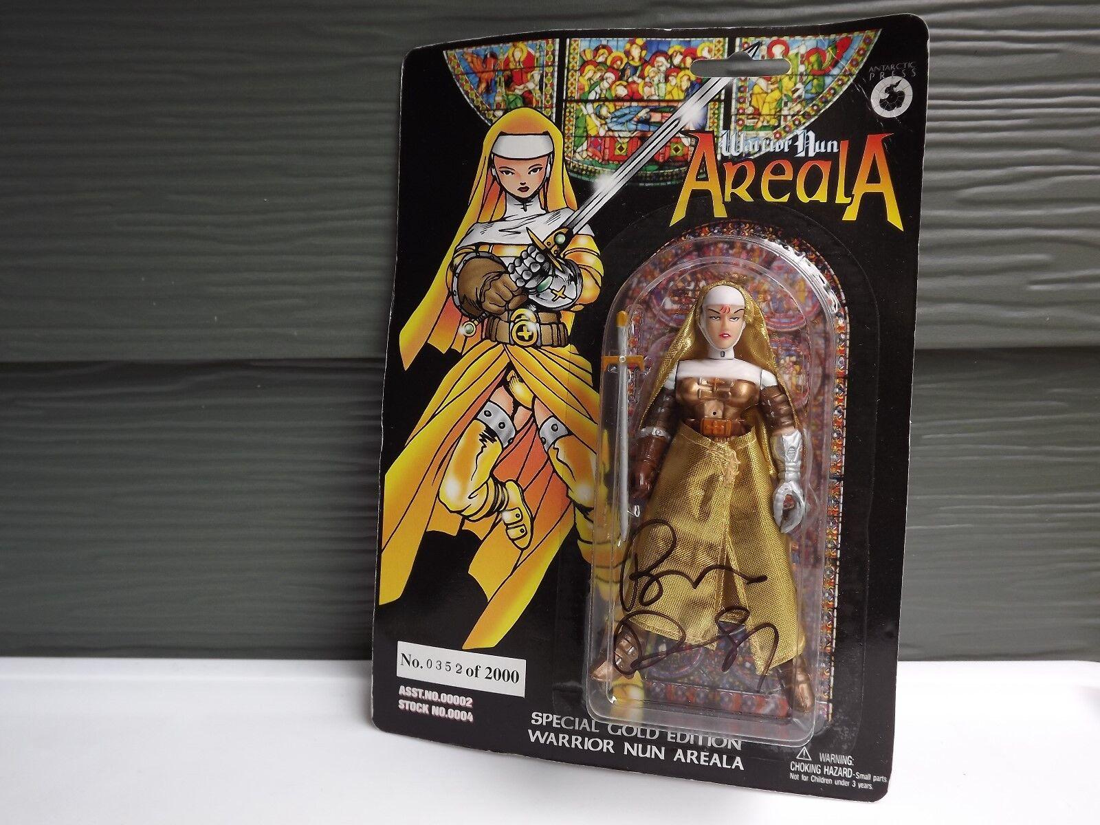 Besondere Gold edition krieger nonne areala actionfigur w   brief von vp unterzeichnet.