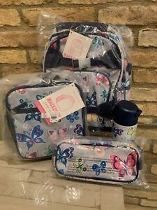 Pottery Barn Kids Gray Butterfly Small Backpack Lunch Box