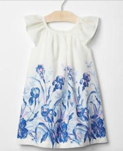 BABY GAP GIRL GARDEN BORDER FLUTTER DRESS NWT 18-24 months 2T NNN