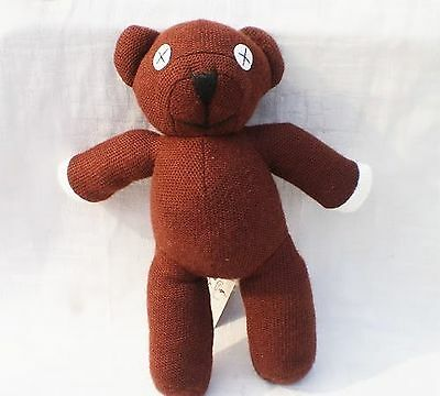 Mr Bean Teddy Bear Soft Stuffed Plush Toy Doll Kids Gift by handstiched