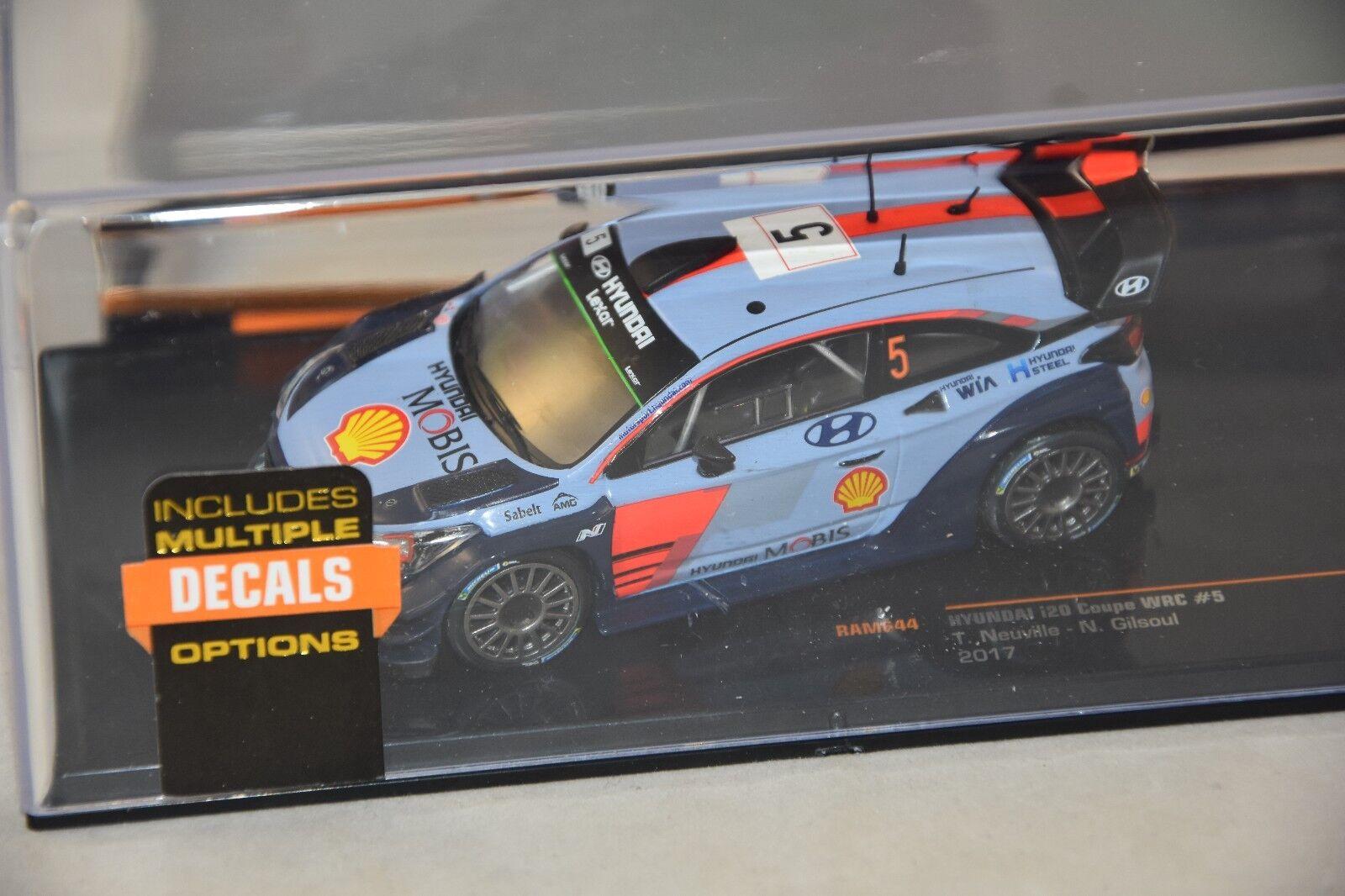 IXO IXORAM644 - Hyundai I20 coupe WRC Neuville N°5 2017 avec Décals  1 43