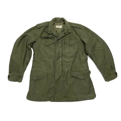 VTG US ARMY MILITARY ISSUE FIELD COAT JACKET MENS