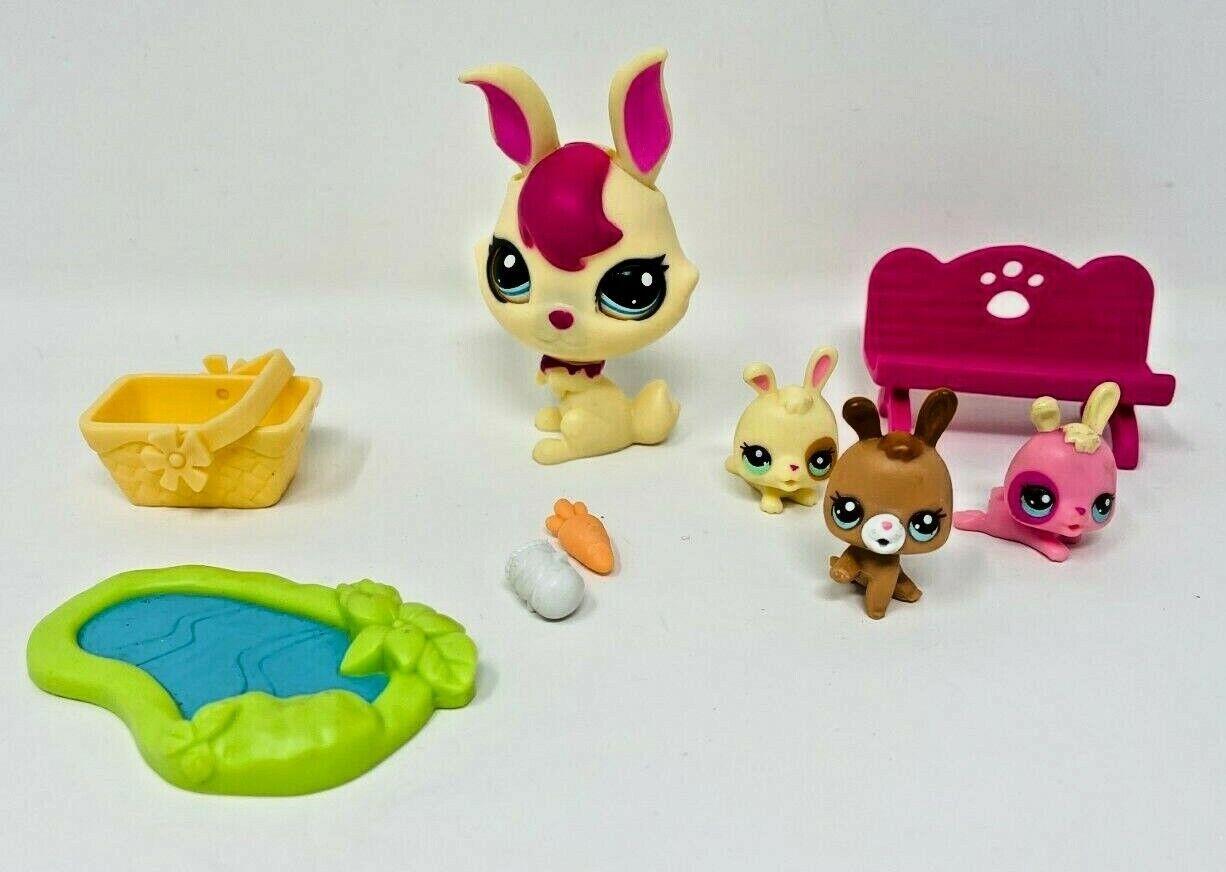 Littlest Pet Shop Lot of 3 Random Magic Motion Dog Cat Bunny Authentic Lps