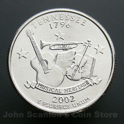 2002 P  Tennessee   State Quarter  **BRILLIANT UNCIRCULATED**