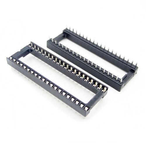 10PCS 40 pin DIP IC Steckdose Adaptor Solder Type Socket Pitch Dual Wipe Contact