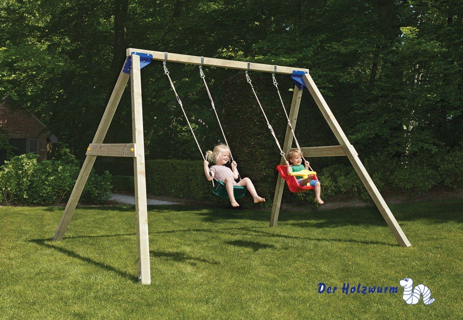 Kinderspielturm Blau Rabbit Freeswing Freeswing Freeswing ca 360x280 cm Kinderspielanlage Spielgerät 75c9b5