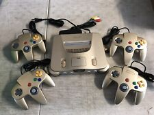 Nintendo 64 N64 GOLD Console (WORN) + Up to 4 Brand New Controllers + Cords!
