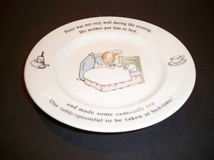 CHILDS-PLATE-THE-WORLD-OF-PETER-RABBIT-WEDGEWOOD-ENGLAND-7-039-039
